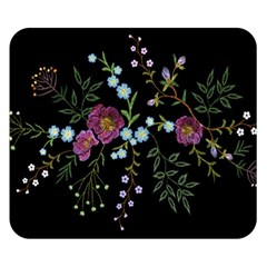 Embroidery-trend-floral-pattern-small-branches-herb-rose Double Sided Flano Blanket (small)