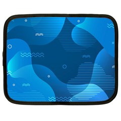 Abstract-classic-blue-background Netbook Case (xl)