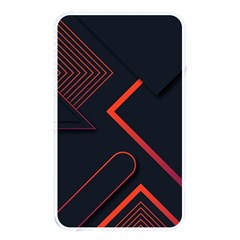 Gradient-geometric-shapes-dark-background-design Memory Card Reader (rectangular) by Bejoart