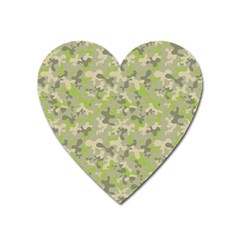 Camouflage Urban Style And Jungle Elite Fashion Heart Magnet by DinzDas