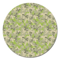 Camouflage Urban Style And Jungle Elite Fashion Magnet 5  (round) by DinzDas