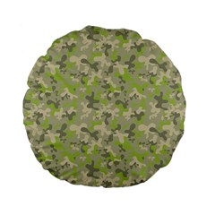 Camouflage Urban Style And Jungle Elite Fashion Standard 15  Premium Flano Round Cushions by DinzDas