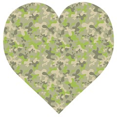 Camouflage Urban Style And Jungle Elite Fashion Wooden Puzzle Heart by DinzDas