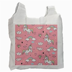 Cute-unicorn-seamless-pattern Recycle Bag (two Side)