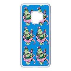Monster And Cute Monsters Fight With Snake And Cyclops Samsung Galaxy S9 Seamless Case(white)