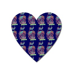 Jaw Dropping Horror Hippie Skull Heart Magnet by DinzDas