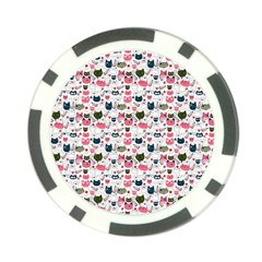 Adorable Seamless Cat Head Pattern01 Poker Chip Card Guard (10 Pack)