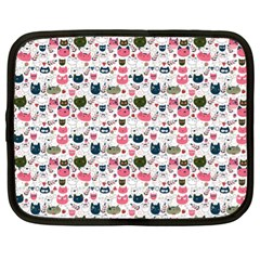 Adorable Seamless Cat Head Pattern01 Netbook Case (xl)