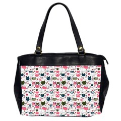 Adorable Seamless Cat Head Pattern01 Oversize Office Handbag (2 Sides)