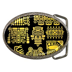 American-golden-ancient-totems Belt Buckles by Bejoart