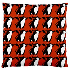 Bull In Comic Style Pattern - Mad Farming Animals Standard Flano Cushion Case (one Side) by DinzDas
