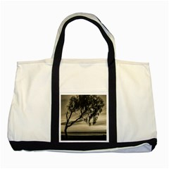 Coast Sunset Scene, Montevideo, Uruguay Two Tone Tote Bag by dflcprintsclothing