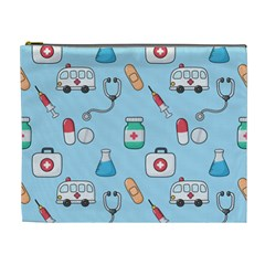 Medical Seamless Pattern Cosmetic Bag (xl)