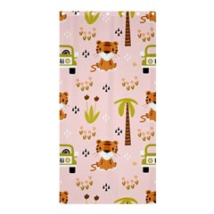 Cute Tiger Car Safari Seamless Pattern Shower Curtain 36  X 72  (stall)