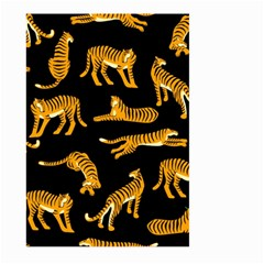Seamless Exotic Pattern With Tigers Large Garden Flag (two Sides)