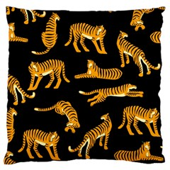 Seamless Exotic Pattern With Tigers Large Cushion Case (two Sides)