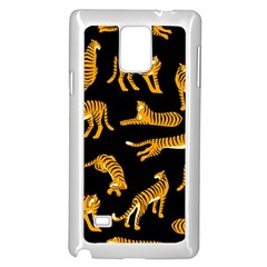 Seamless Exotic Pattern With Tigers Samsung Galaxy Note 4 Case (white)