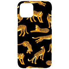 Seamless Exotic Pattern With Tigers Iphone 11 Pro Black Uv Print Case