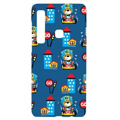 Racing Car Printing Set Cartoon Vector Pattern Samsung A9 Black Uv Print Case
