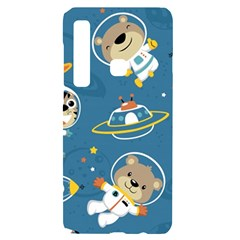Seamless Pattern Funny Astronaut Outer Space Transportation Samsung A9 Black Uv Print Case