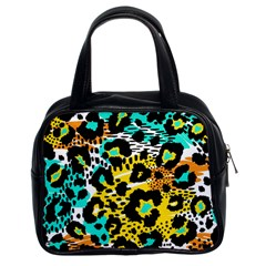 Seamless Leopard Wild Pattern Animal Print Classic Handbag (two Sides)