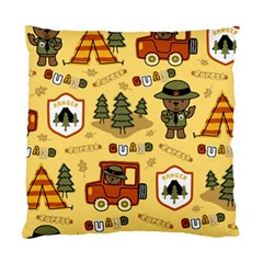 Seamless Pattern Funny Ranger Cartoon Standard Cushion Case (two Sides)