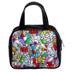 Graffiti Characters Seamless Pattern Classic Handbag (two Sides)