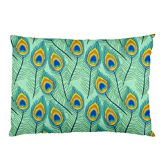 Lovely Peacock Feather Pattern With Flat Design Pillow Case