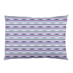 Pastel Lines, Bars Pattern, Pink, Light Blue, Purple Colors Pillow Case by Casemiro