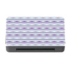 Pastel Lines, Bars Pattern, Pink, Light Blue, Purple Colors Memory Card Reader With Cf by Casemiro