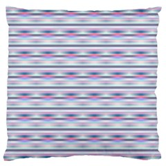 Pastel Lines, Bars Pattern, Pink, Light Blue, Purple Colors Large Cushion Case (one Side) by Casemiro