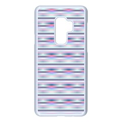 Pastel Lines, Bars Pattern, Pink, Light Blue, Purple Colors Samsung Galaxy S9 Plus Seamless Case(white)