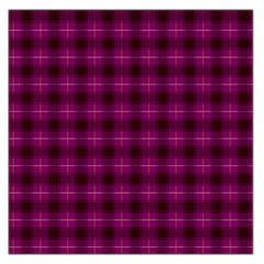 Dark Purple, Violet Tartan, Buffalo Plaid Like Pattern Large Satin Scarf (square)