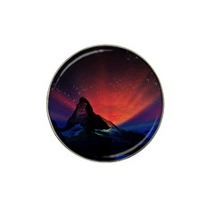 Matterhorn Switzerland Fantasy Aurora Hat Clip Ball Marker (4 Pack) by Bejoart