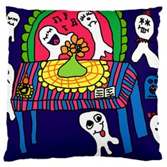 Circus Ghosts Digital Large Flano Cushion Case (two Sides)