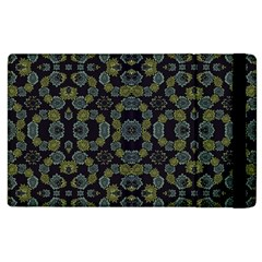 Modern Ornate Stylized Motif Print Apple Ipad 3/4 Flip Case