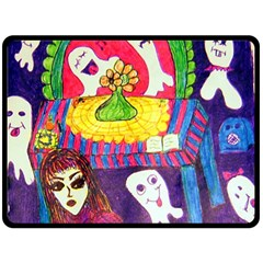 Circus Ghosts Double Sided Fleece Blanket (large)  by snowwhitegirl