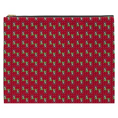 Headphones Girl Red Cosmetic Bag (xxxl)