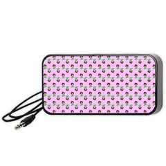 Headphones Girl Pink Portable Speaker