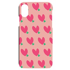 Hearts Iphone X/xs Black Uv Print Case