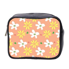 Beige Flowers W No Red Flower Mini Toiletries Bag (two Sides)