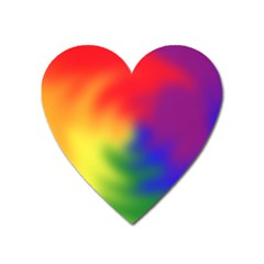 Rainbow Colors Lgbt Pride Abstract Art Heart Magnet by yoursparklingshop