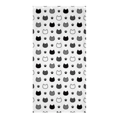 Kitten Head Paw Footprint Seamless Pattern 1 Shower Curtain 36  X 72  (stall)