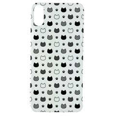 Kitten Head Paw Footprint Seamless Pattern 1 Apple Iphone Xs Tpu Uv Case