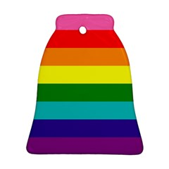 Original 8 Stripes Lgbt Pride Rainbow Flag Bell Ornament (two Sides)