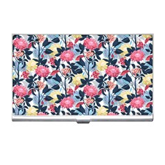 Beautiful Floral Pattern Business Card Holder