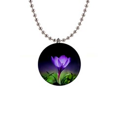 Floral Nature 1  Button Necklace