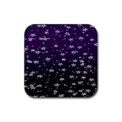 Stars Rubber Square Coaster (4 Pack)