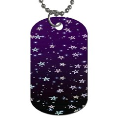 Stars Dog Tag (one Side)