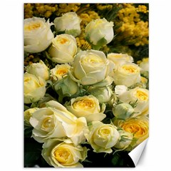 Yellow Roses Canvas 36  X 48  by Sparkle